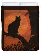 Moonlighting Cat Duvet Cover