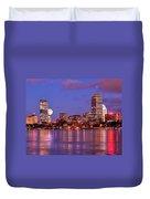 Moonlit Boston On The Charles Duvet Cover