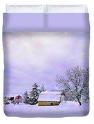 Moonlit Farm Duvet Cover