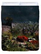 Moonlit Hillside In Africa Duvet Cover