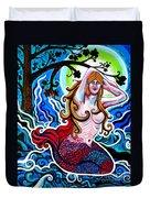 Moonlit Mermaid Duvet Cover