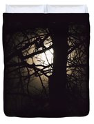 Moonlit Tree In The Forest Duvet Cover