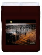 Moonrise After Sunset Duvet Cover by Kaye Menner