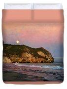 Moonrise At Avila Beach Duvet Cover