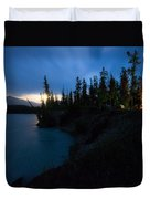 Moonrise At Wabasso Campground Duvet Cover