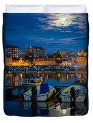 Moonrise In Karlskrona Duvet Cover