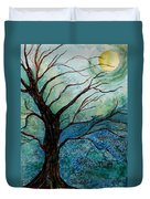 Moonrise In The Wild Night Duvet Cover