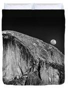 Moonrise Over Half Dome Duvet Cover