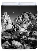 Moonrise Over Joshua Tree Duvet Cover
