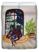 Moonstruck Cats - Winter Wonderland Duvet Cover