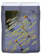 Moore State Park Lily Pads 1 Duvet Cover