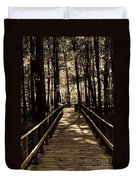 Moores Creek Battlefield  Nc Swam Bridge  Duvet Cover