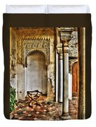 Moorish Chair And Alcove At The Alhambra Duvet Cover