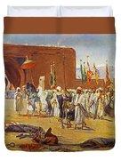 Moorish Procession Duvet Cover