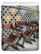 Moorish Tile Work At The Alhambra Duvet Cover
