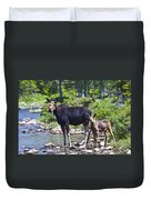 Moose And Baby 4 Duvet Cover