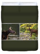 Moose And Baby 5 Duvet Cover