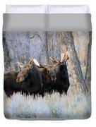 Moose Meeting Duvet Cover