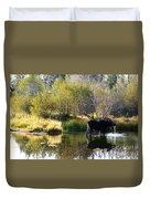 Moose Reflection Duvet Cover