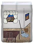 Essence Of Home - Mop And Bucket Duvet Cover