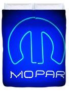 Mopar Neon Sign Duvet Cover
