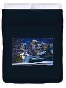 Moraine Lake Reflection Abstract Duvet Cover