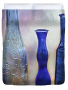 More Cobalt Blue Bottles Duvet Cover