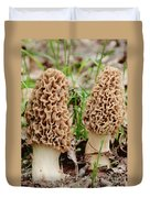 Morel Twins Duvet Cover