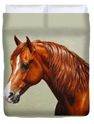 Morgan Horse - Flame - Mirrored Duvet Cover