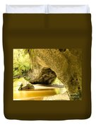 Moria Gate Arch In Opara Basin On South Island Of Nz Duvet Cover