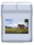 Mormon Row Historic District In Grand Tetons National Park-wyoming Duvet Cover