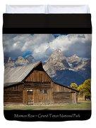 Mormon Row Poster Duvet Cover