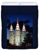 Mormon Temple Lds Utah Duvet Cover