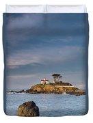 Morning At Battery Point Lighthouse Duvet Cover