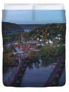 Morning At Harpers Ferry Duvet Cover
