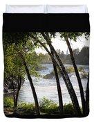 Morning At Idaho Falls Duvet Cover