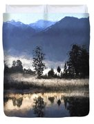 Morning At Lake Matheson Duvet Cover