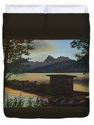 Morning At Lake Mcdonald Glacier Park Duvet Cover
