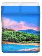 Morning At Papohaku Beach  Duvet Cover