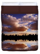 Morning At The Reservoir New York City Usa Duvet Cover