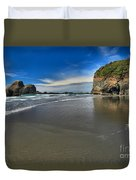 Morning Beach Reflections Duvet Cover