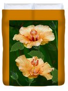 Morning Blooms - Hibiscus Duvet Cover