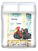 I Love My Morning Coffee Time With My Darling  Duvet Cover