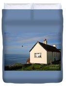 Morning Cottage At Lyme Regis Duvet Cover