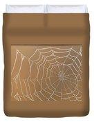 Morning Dew On Web Duvet Cover