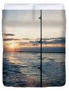 Morning Fishing Duvet Cover
