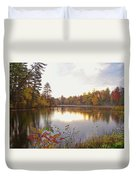 Morning Fog On The Lake Duvet Cover