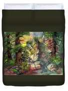 Morning Forest Hike Duvet Cover