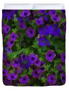Morning Glories Are Beautiful Duvet Cover
