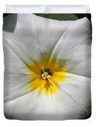 Morning Glory Named White Ensign Duvet Cover
